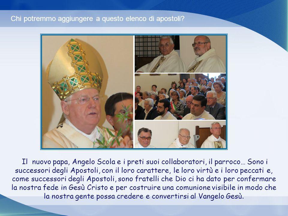 E una comunione con gli Apostoli. Abbiamo ricevuto in dono, come nostri fratelli, gli apostoli. Sono gli apostoli dell'Agnello, che hanno conosciuto l