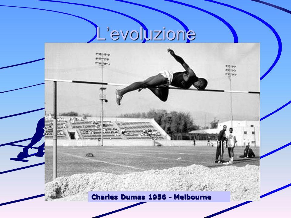 Il Fosbury flop Nel 1968 Dick Fosbury inventò una tecnica rivoluzionaria di valicamemto dellasticella: quella dorsale Questa nuova tecnica è stata resa possibile dallintroduzione dei materassi di atterraggio Fosbury la presentò alle olimpiadi di Città del Messico nella stesso anno e vinse loro Dal 1978 tutti gli atleti del salto in alto di valore assoluto, utilizzano questa tecnica