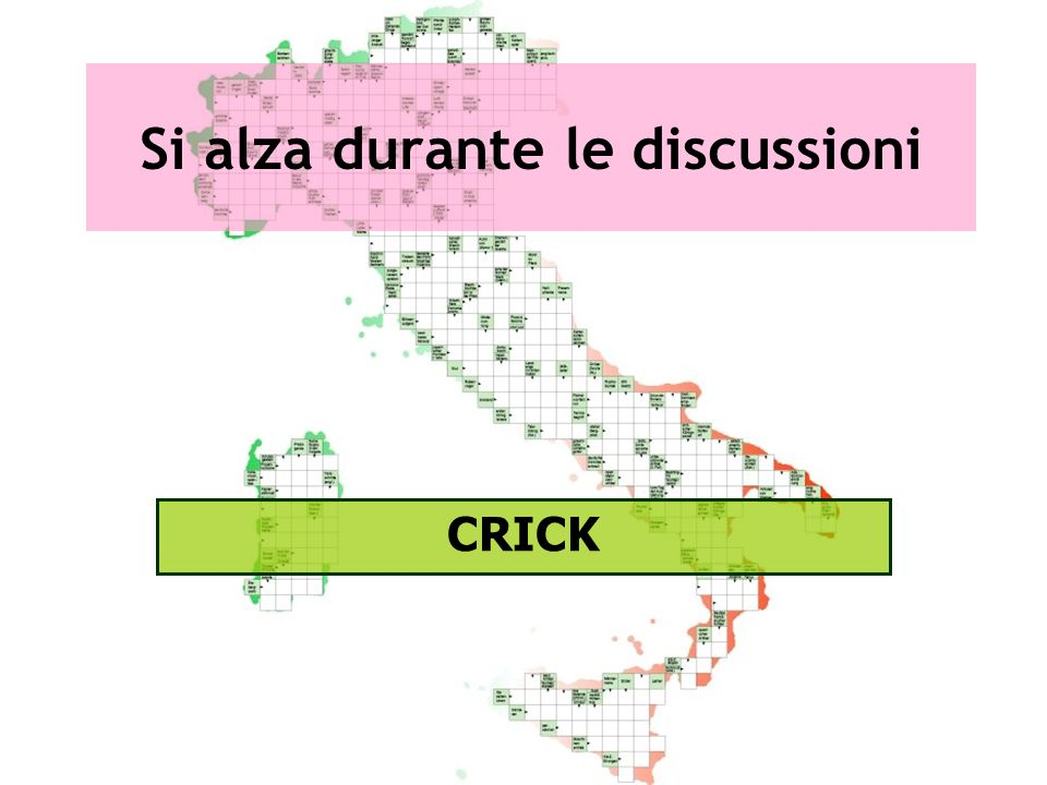 Si alza durante le discussioni CRICK