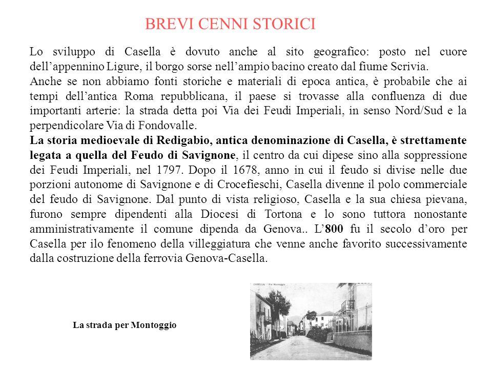 Gli abitanti di Casella attualmente sono allultimo censimento 4.400 circa. Le frazioni più importanti sono: Regiosi, Cortino, Parata, Salvega, Carpene