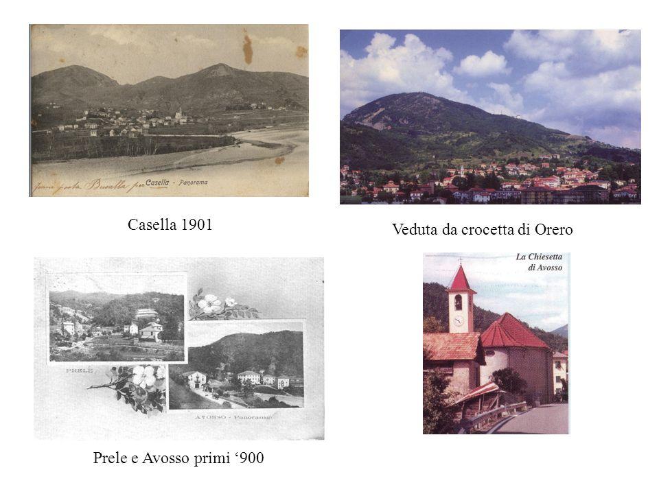 BREVI CENNI STORICI Lo sviluppo di Casella è dovuto anche al sito geografico: posto nel cuore dellappennino Ligure, il borgo sorse nellampio bacino cr