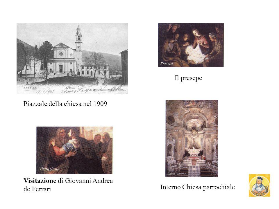 Sul piazzale della chiesa di Casella si estende la parrocchia di S. Stefano, che è stata restaurata nel 1994. E stata costruita sul progetto di mastro