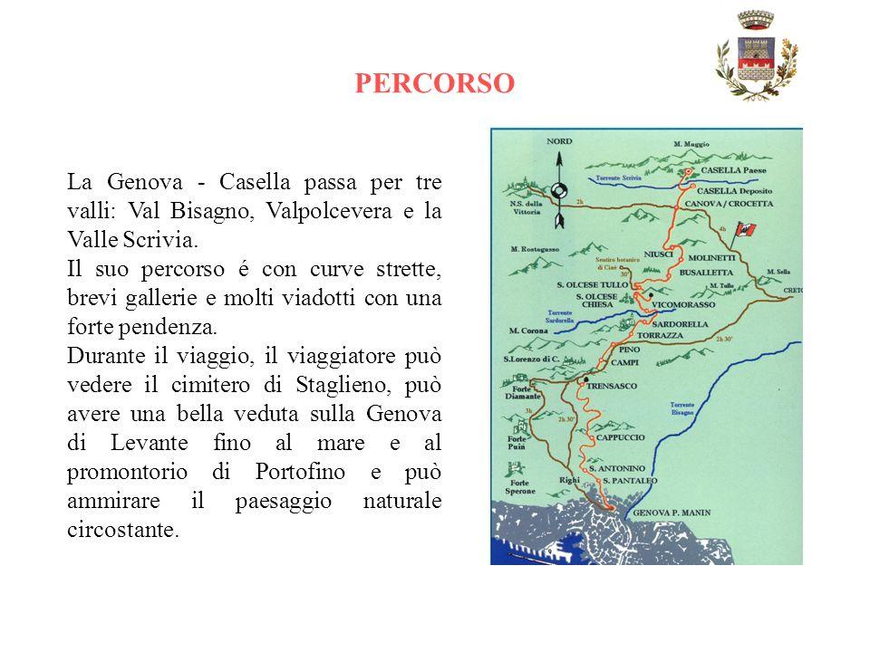TRENINO GENOVA-CASELLA La Genova-Casella è una dalle poche ferrovie sopravvissute al boom della meccanizzazione avvenuta negli armi Cinquanta o sessan