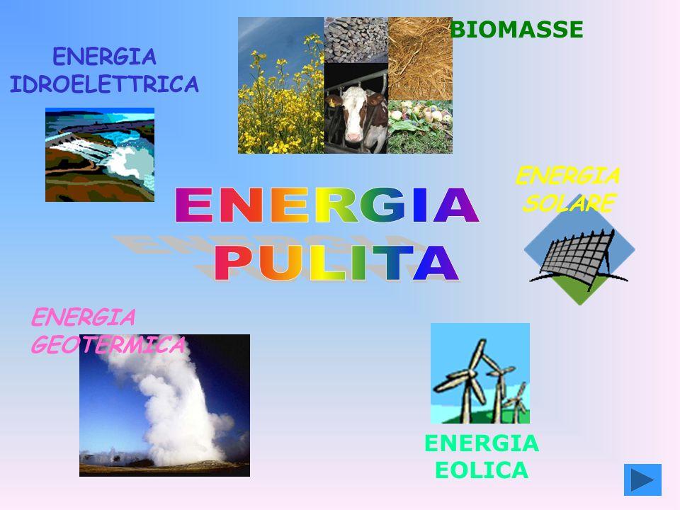 ENERGIA IDROELETTRICA ENERGIA GEOTERMICA ENERGIA EOLICA BIOMASSE ENERGIA SOLARE