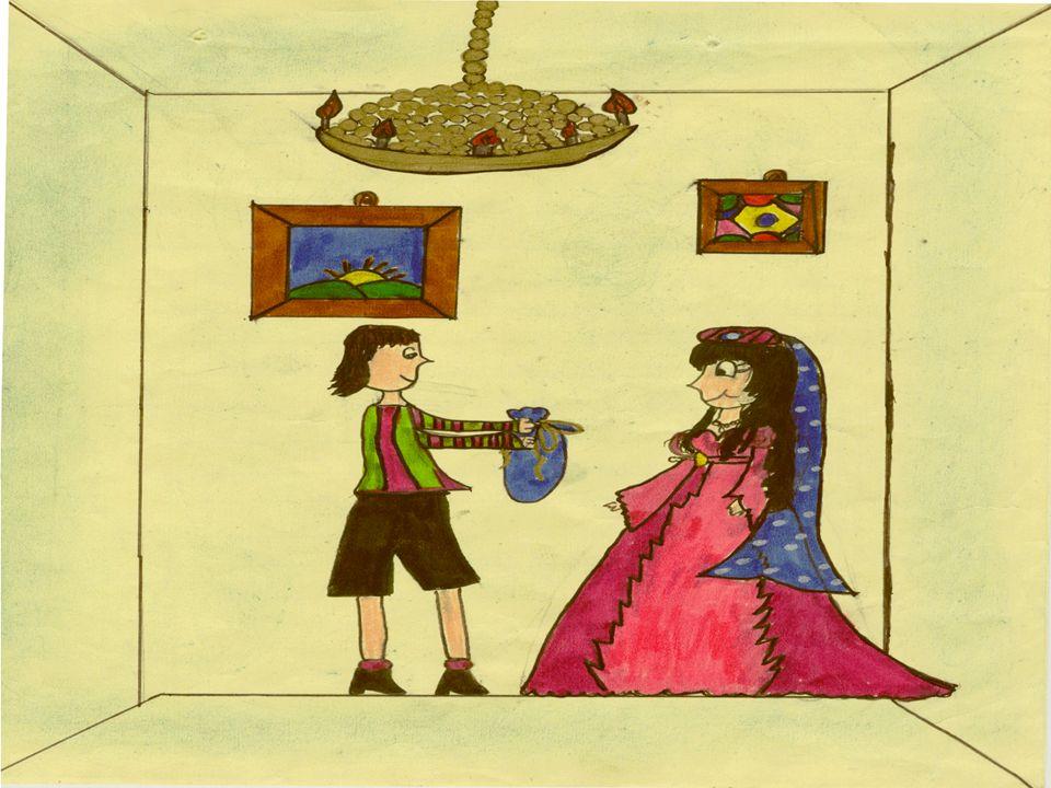 Anche il secondo fratello si avviò verso il castello; dopo aver bevuto, ed essersi saziato dalla principessa venne fregato e anche lui tornò allalbero maltrattato.