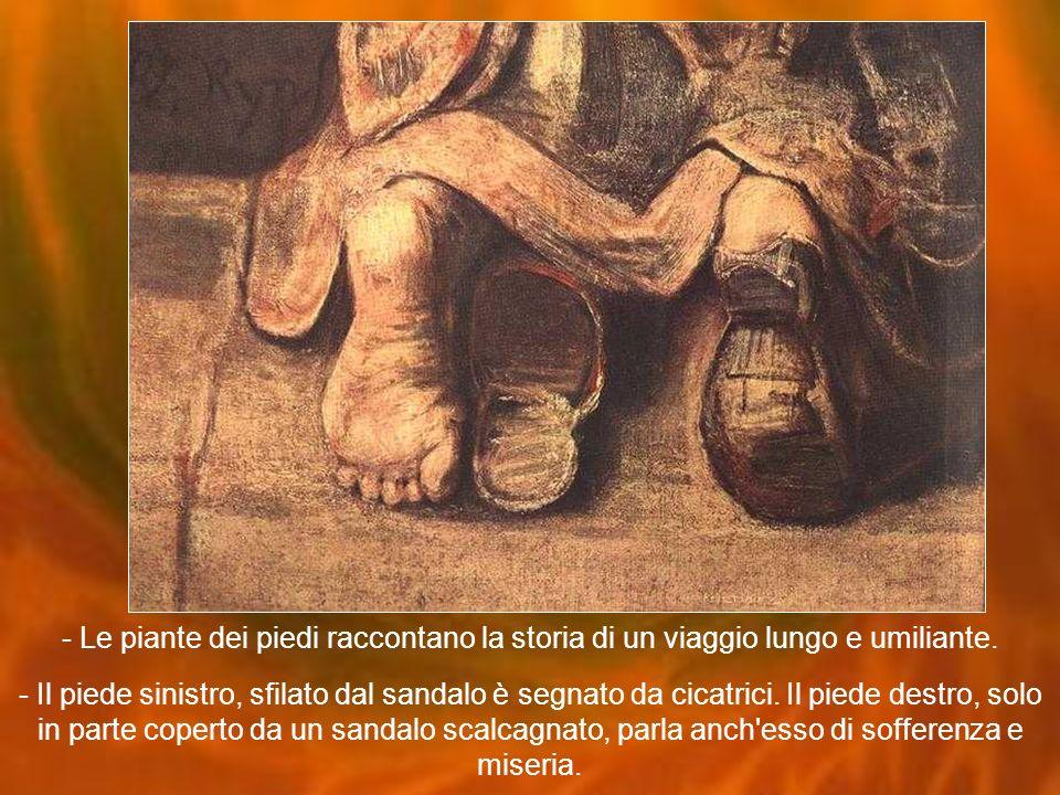 - Le piante dei piedi raccontano la storia di un viaggio lungo e umiliante.