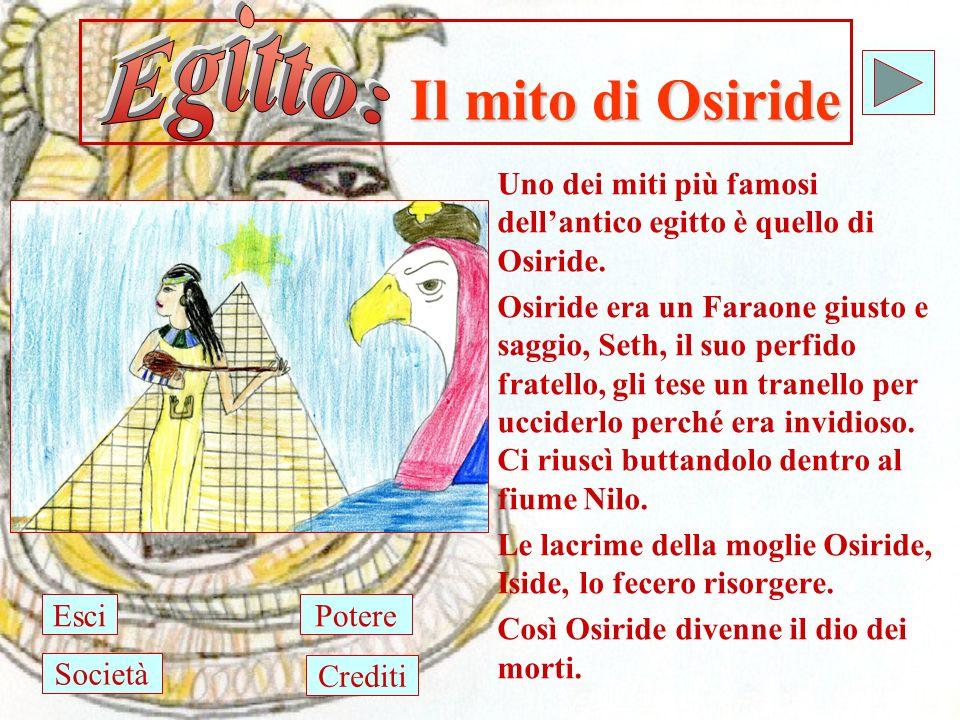 Il mito di Osiride Uno dei miti più famosi dellantico egitto è quello di Osiride.