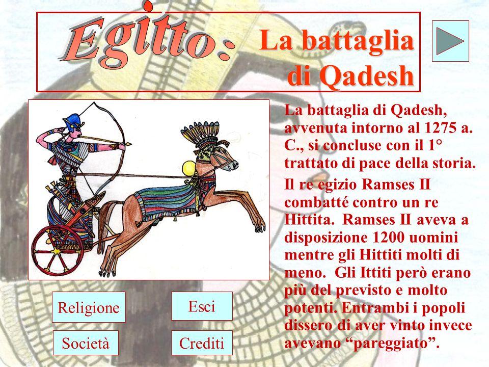 La battaglia di Qadesh La battaglia di Qadesh, avvenuta intorno al 1275 a.
