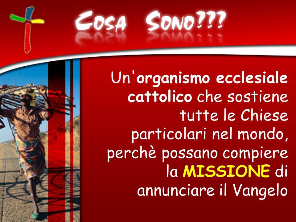 Un'organismo ecclesiale cattolico che sostiene tutte le Chiese particolari nel mondo, perchè possano compiere la MISSIONE di annunciare il Vangelo