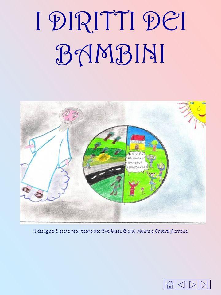 I DIRITTI DEI BAMBINI Il disegno è stato realizzato da: Eva Licci, Giulia Manni e Chiara Perrone