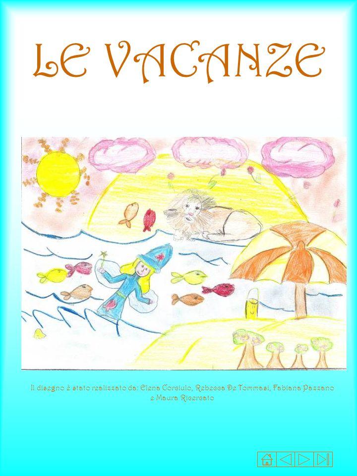 LE VACANZE Il disegno è stato realizzato da: Elena Corciulo, Rebecca De Tommasi, Fabiana Pazzano e Maura Ricercato