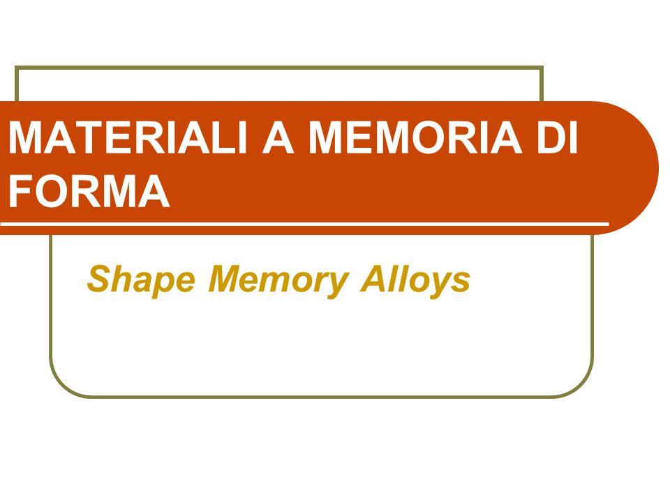 MATERIALI A MEMORIA DI FORMA Shape Memory Alloys