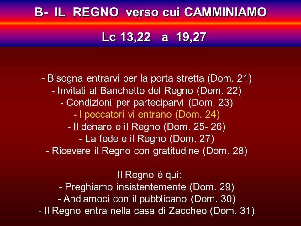 - Bisogna entrarvi per la porta stretta (Dom.21) - Invitati al Banchetto del Regno (Dom.