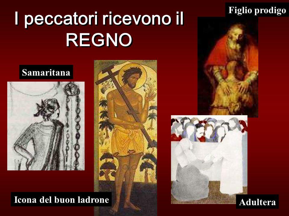 I peccatori ricevono il REGNO Figlio prodigo Adultera Samaritana Icona del buon ladrone