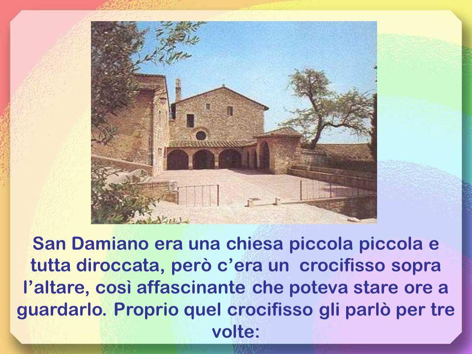 Decise di stare un po in silenzio meditando tra le campagne e le colline di Assisi, facendo spesso tappa nella chiesetta di S. Damiano.