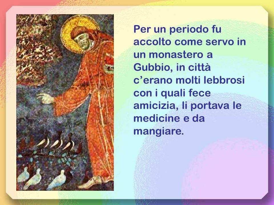 Francesco si spoglia degli abiti e li restituisce al padre, dei beni terreni di ogni ricchezza, dicendo:Ora chiamerò Padre mio il Padre dei cieli.