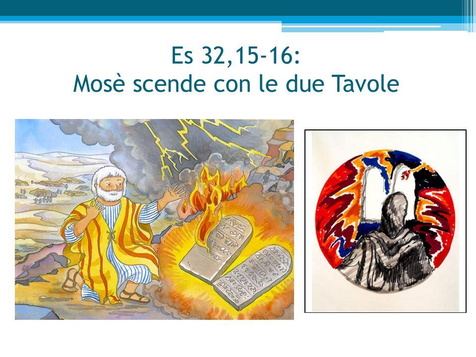 Es 32,15-16: Mosè scende con le due Tavole