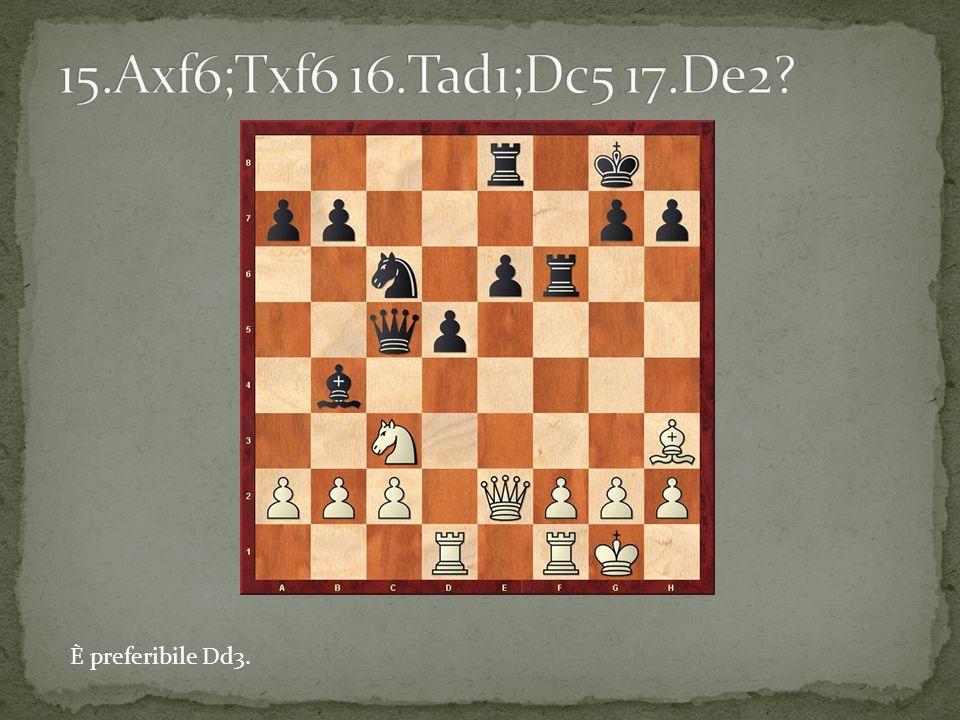 La mossa corretta e De4 minacciando il cavallo d4.