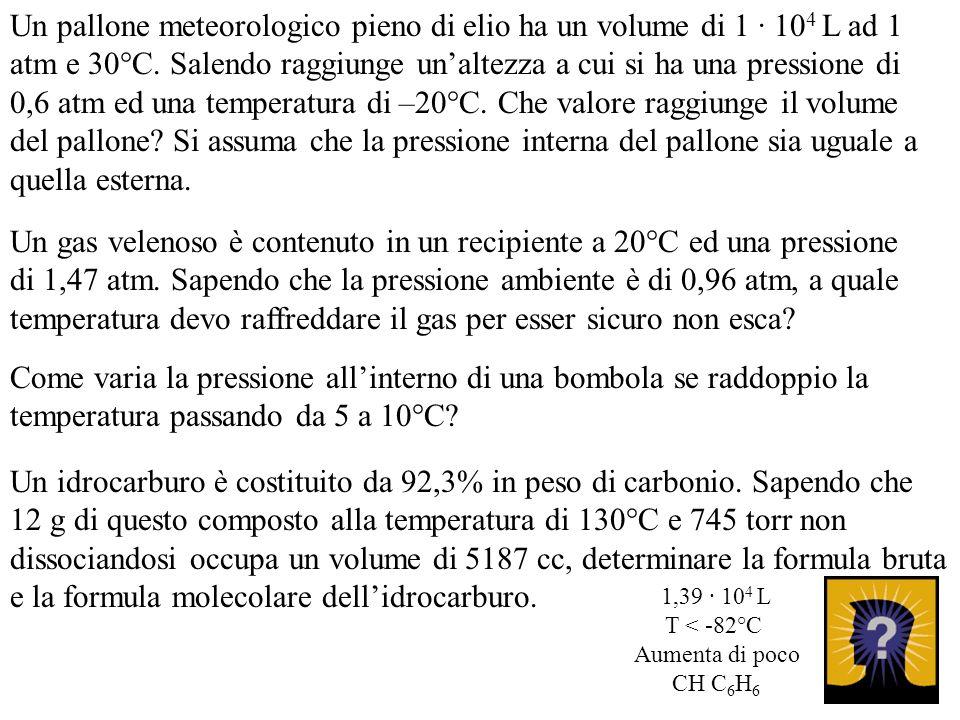 Un idrocarburo è costituito da 92,3% in peso di carbonio. Sapendo che 12 g di questo composto alla temperatura di 130°C e 745 torr non dissociandosi o