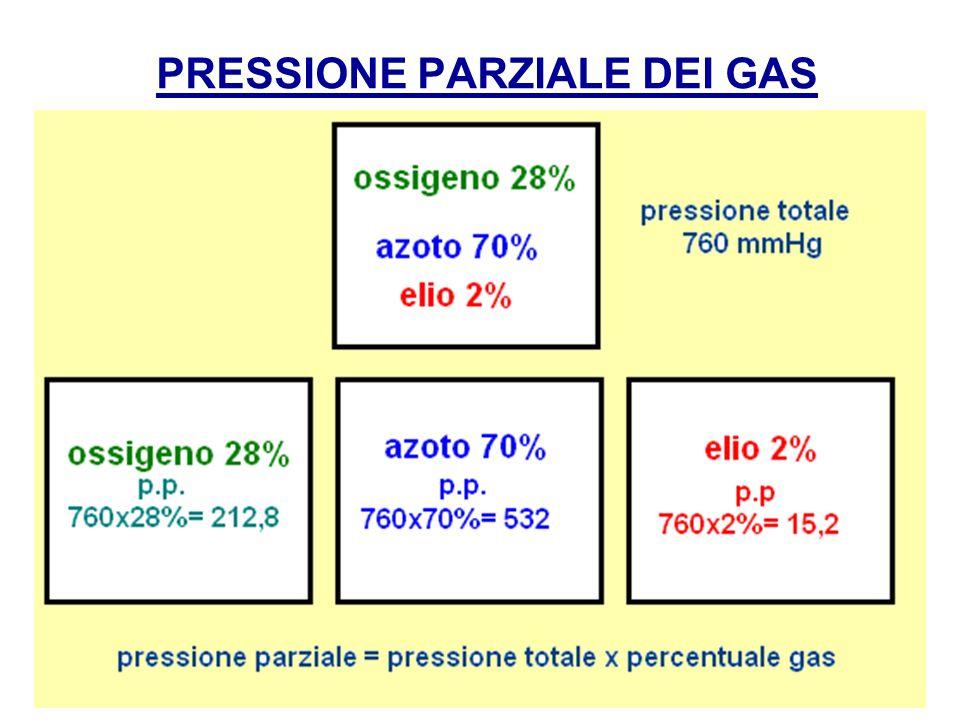 PRESSIONE PARZIALE DEI GAS