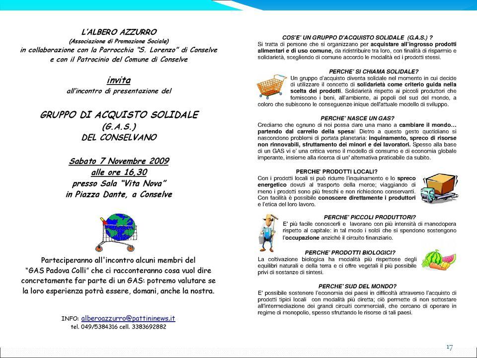 Per approfondire: www.retegas.org www.economia-solidale.org www.equistiamo.org Costruire economie solidali,di Andrea Saroldi EMI, Bologna – 2003 GAS, gruppi di acquisto solidali,di Lorenzo Valera Terre di Mezzo, Milano – 2005 Gruppi d acquisto, di Marino Perotta Edizioni Lavoro, Roma – 2005 Gruppi di Acquisto Solidali, di Andrea Saroldi EMI, Bologna – 2001 Guida al consumo critico, di Centro Nuovo Modello di Sviluppo EMI, Bologna – 2003 Invito alla sobrietà felice, di Gianfranco Bologna, Francesco Gesualdi, Andrea Saroldi EMI, Bologna – 2000 La rivoluzione delle reti, di Euclides André Mance EMI, Bologna – 2003 Le imprese alternative, di Luis Razeto EMI, Bologna - 2004 18 Davide Stevanin – 13/11/ 2011