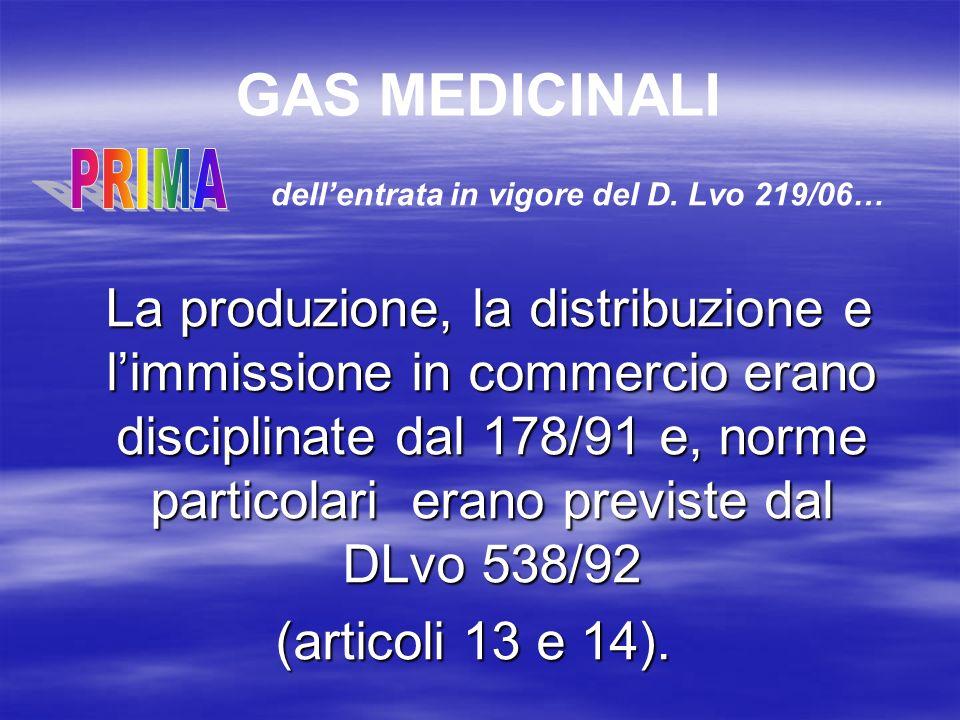 GAS MEDICINALI I gas medicinali classificati nella Farmacopea Ufficiale Italiana ed Europea sono: OSSIGENO MEDICINALE AZOTO PROTOSSIDO MEDICINALE ANIDRIDE CARBONICA MEDICINALE AZOTO MEDICINALE ARIA MEDICINALE ARIA MEDICINALE SINTETICA MONOSSIDO DAZOTO MEDICINALE MISCELE DEI GAS SOPRA ELENCATI ELIO MEDICINALE Farmacopea Ufficiale Italiana XI ed.