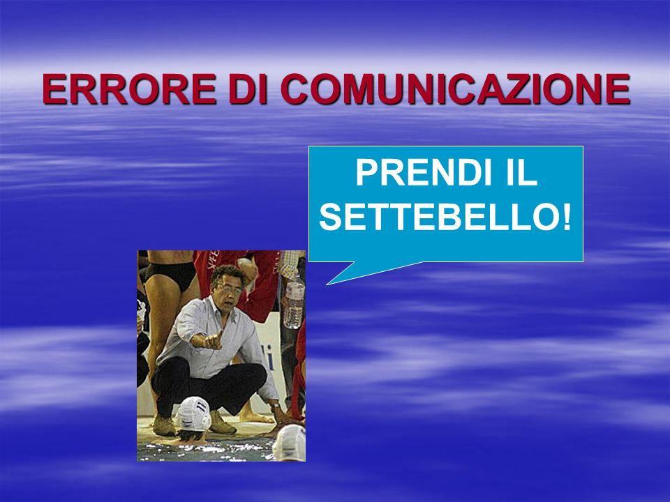 PRENDI IL SETTEBELLO! ERRORE DI COMUNICAZIONE