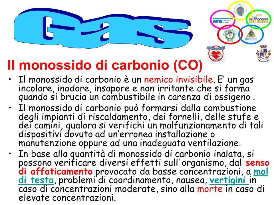 Il monossido di carbonio (CO) Il monossido di carbonio è un nemico invisibile. E un gas incolore, inodore, insapore e non irritante che si forma quand