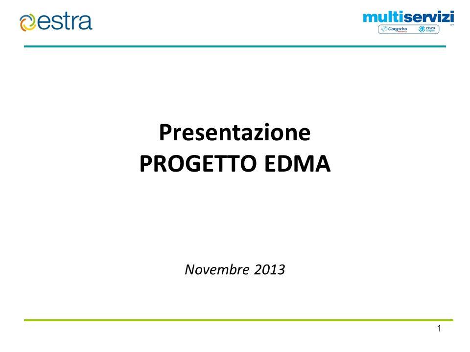 Agenda 2 1 Le ragioni del progetto 2 Descrizione dell operazione 3 Struttura organizzativa EDMA e sue partecipate 4 EDMA in cifre
