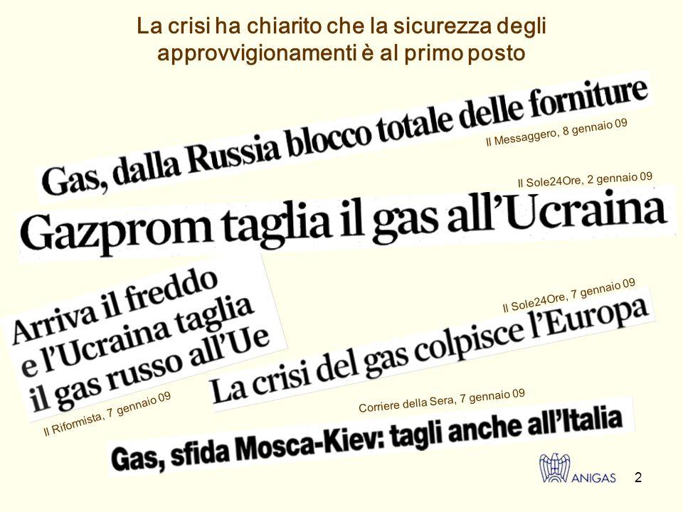 3 Effetti della crisi del gas