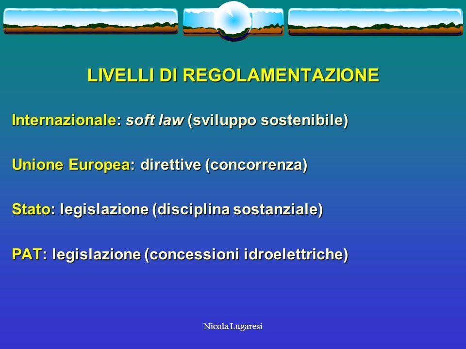 Nicola Lugaresi PAT: NORME Piano energetico provinciale Piano energetico provinciale Legge provinciale n.