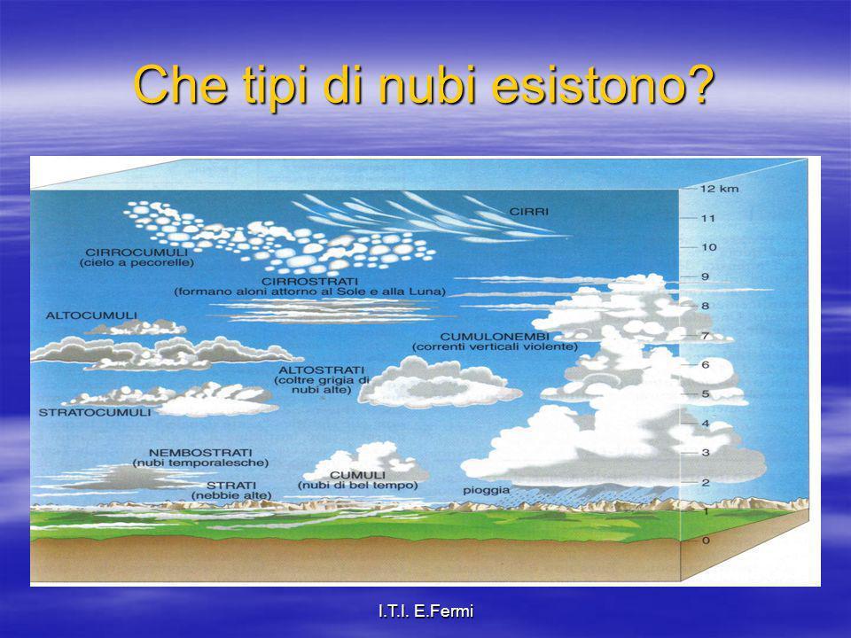 I.T.I. E.Fermi Che tipi di nubi esistono?