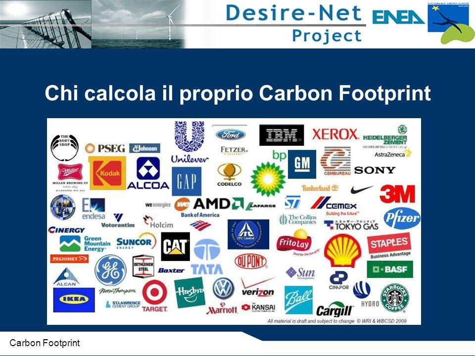 Chi calcola il proprio Carbon Footprint Carbon Footprint