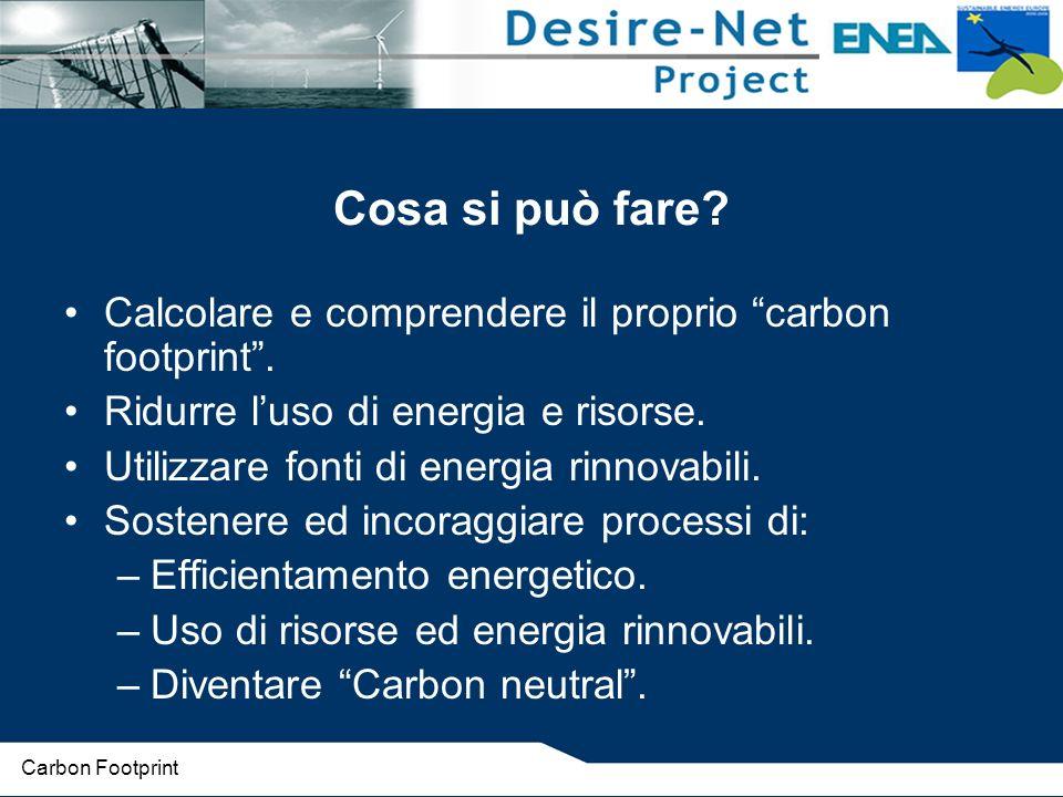 Cosa si può fare.Calcolare e comprendere il proprio carbon footprint.