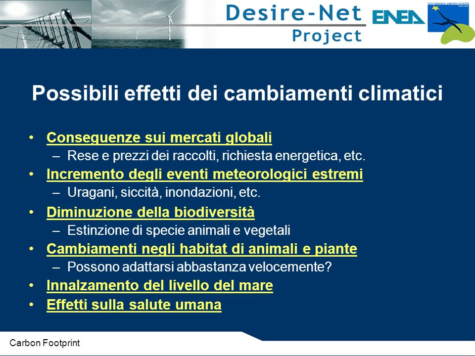 Neutralizzazione delle emissioni Carbon neutrality Carbon Footprint