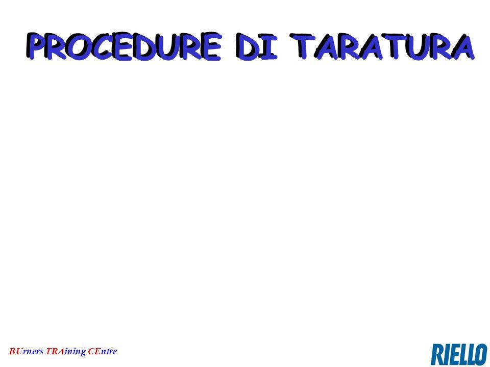 BUrners TRAining CEntre PROCEDURE DI TARATURA