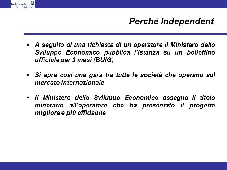 Perché Independent A seguito di una richiesta di un operatore il Ministero dello Sviluppo Economico pubblica listanza su un bollettino ufficiale per 3