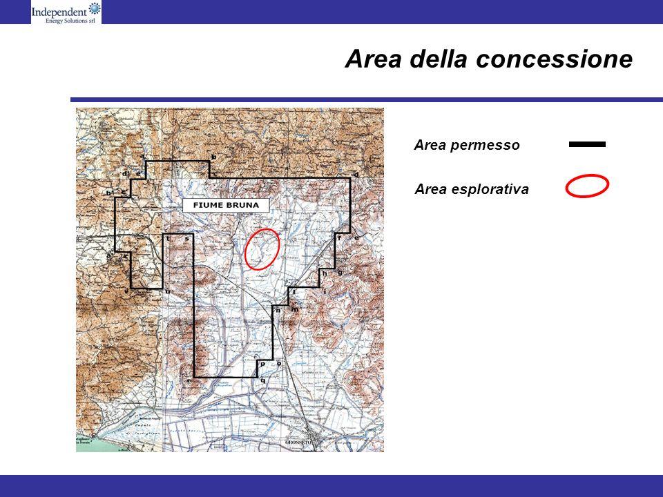 Area permesso Area esplorativa Area della concessione