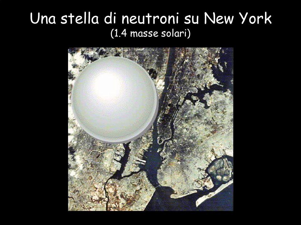 Una stella di neutroni su New York (1.4 masse solari)