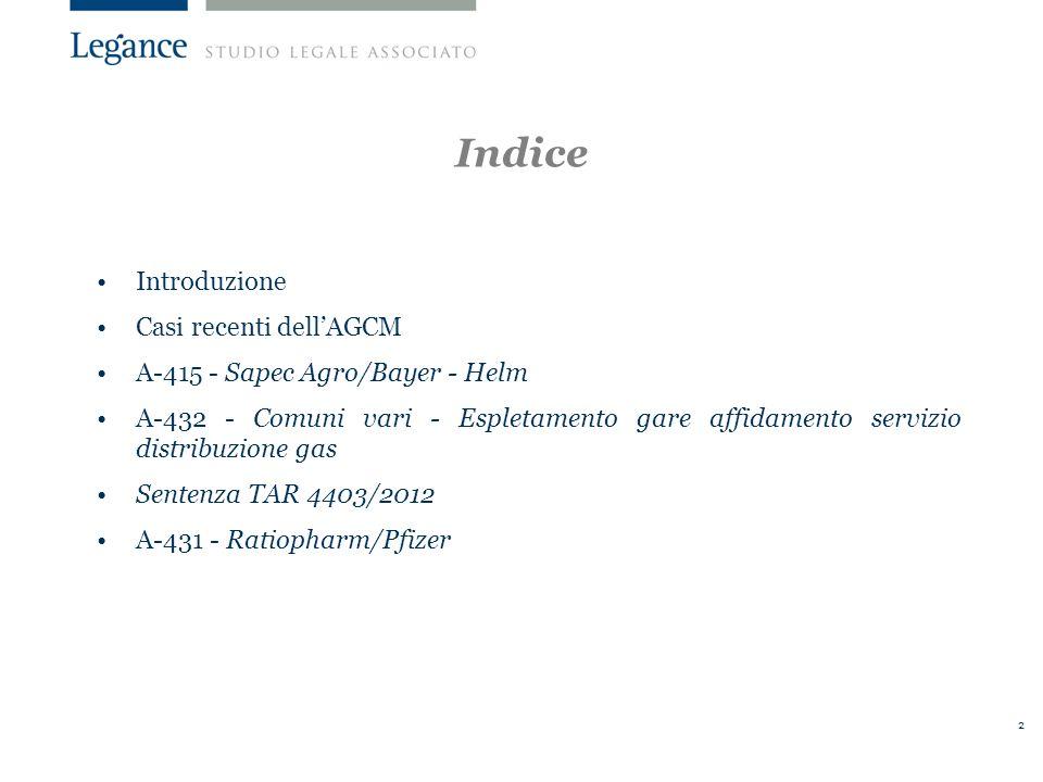 33 Il procedimento 13 ottobre 2010: avvio istruttoria.