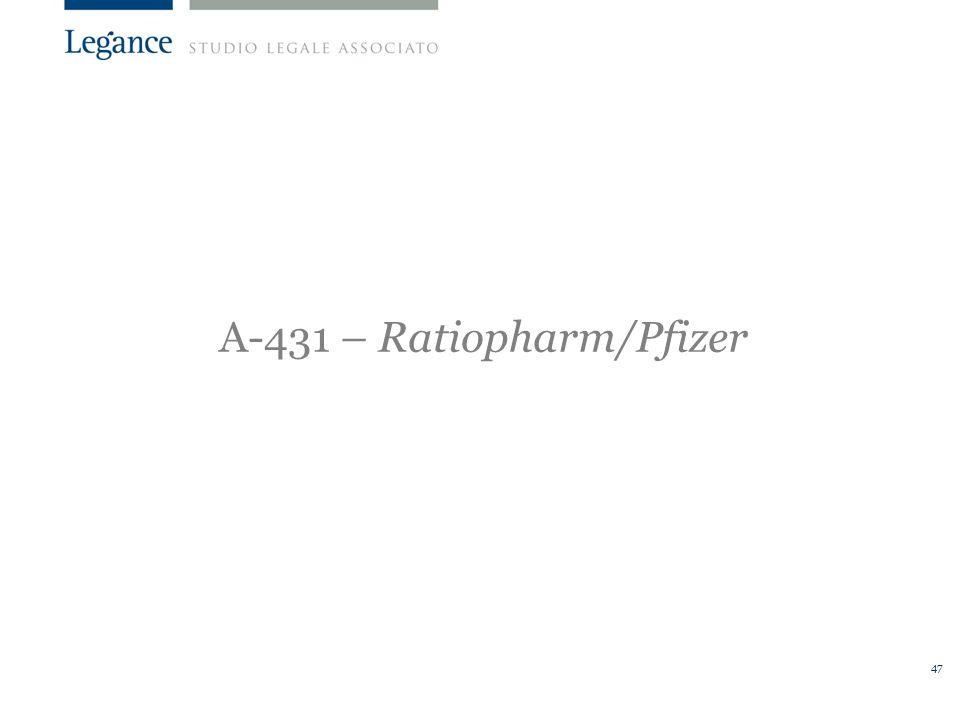 47 A-431 – Ratiopharm/Pfizer