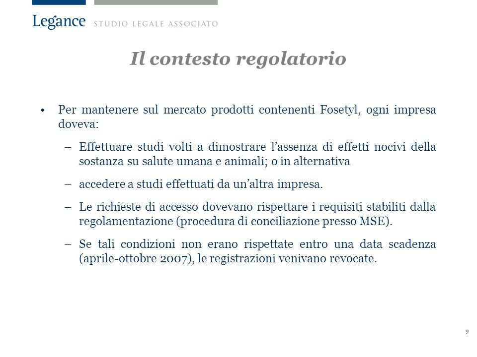 10 La condotta contestata La condotta BCS aveva rifiutato di concedere alla TF laccesso a 2 studi sugli effetti del Fosetyl sui vertebrati.