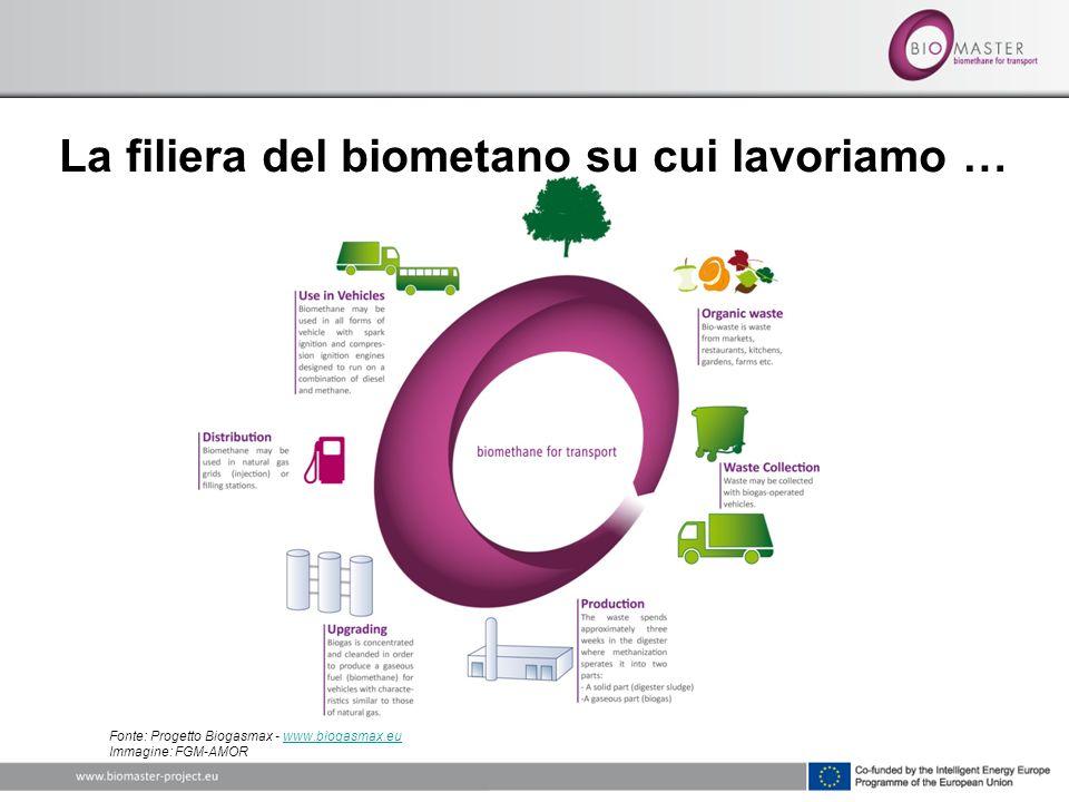 La filiera del biometano su cui lavoriamo … Fonte: Progetto Biogasmax - www.biogasmax.eu Immagine: FGM-AMORwww.biogasmax.eu