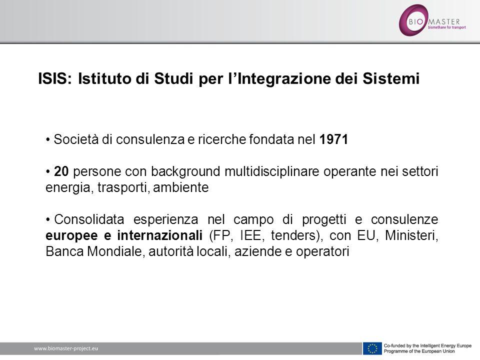ISIS: Istituto di Studi per lIntegrazione dei Sistemi Società di consulenza e ricerche fondata nel 1971 20 persone con background multidisciplinare op