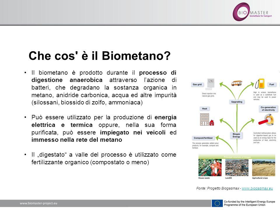 Che cos' è il Biometano? Il biometano è prodotto durante il processo di digestione anaerobica attraverso lazione di batteri, che degradano la sostanza