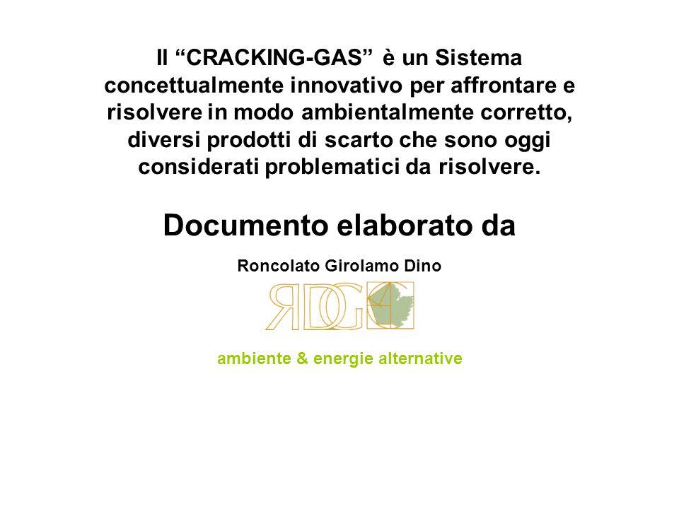 Il CRACKING-GAS è un Sistema concettualmente innovativo per affrontare e risolvere in modo ambientalmente corretto, diversi prodotti di scarto che son
