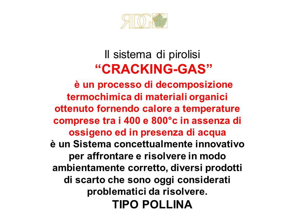Il sistema di pirolisi CRACKING-GAS è un processo di decomposizione termochimica di materiali organici ottenuto fornendo calore a temperature comprese