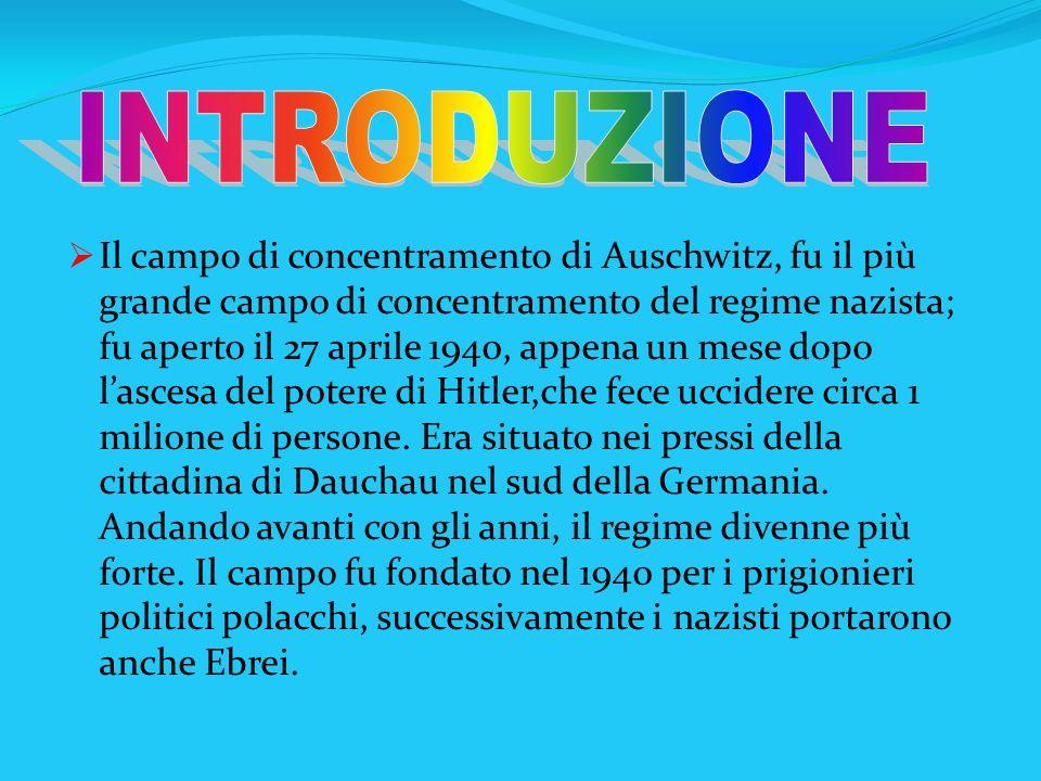 Il campo di concentramento di Auschwitz, fu il più grande campo di concentramento del regime nazista; fu aperto il 27 aprile 1940, appena un mese dopo