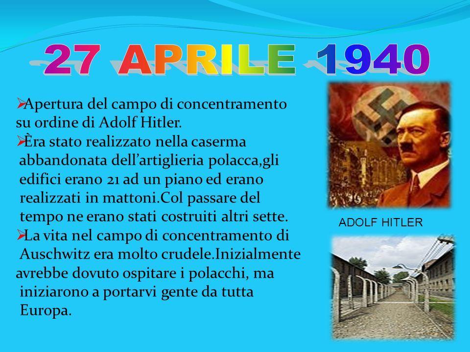Apertura del campo di concentramento su ordine di Adolf Hitler. Èra stato realizzato nella caserma abbandonata dellartiglieria polacca,gli edifici era