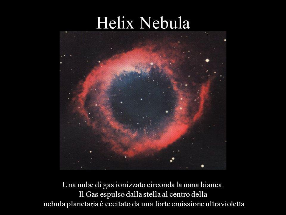 Helix Nebula Una nube di gas ionizzato circonda la nana bianca.